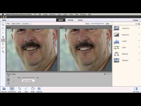 Whiten Teeth in Photoshop Elements