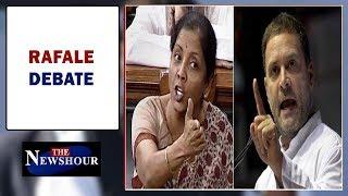 Explosive showdown in Parliament, Nirmala-Rahul war of words  | The Newshour Debate (4th Jan)