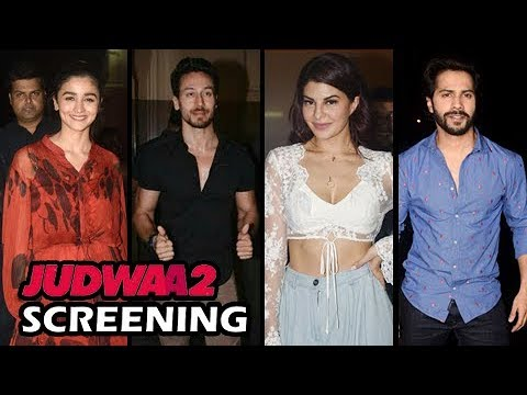 Video Judwaa 2 Special Celebrity Screening Iulia, Alia, Akshay Kumar, Tiger Shroff And Others download in MP3, 3GP, MP4, WEBM, AVI, FLV January 2017