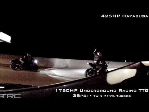 INSANE 425HP Turbo Hayabusa battles 1750HP Lamborghini Underground Racing
