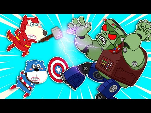🔴 Live | Ironmam & Captain America Fight Zombie Monsters - Wolfoo Pretend Play Superheroes