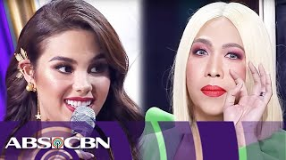 Video Vice Ganda's fun-filled talk with Catriona Gray | Miss Universe 2018 Homecoming MP3, 3GP, MP4, WEBM, AVI, FLV Maret 2019