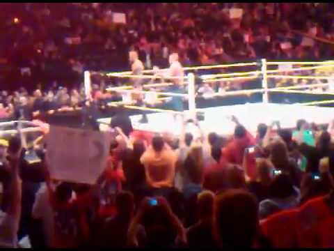 Edge Tribute by Orton and Cena After Raw Goes Off the Air 04/11/2011