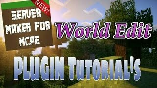 This video explains how to use the World Edit plugin featured in Server Maker for Minecraft PE, the #1 app to create your own MCPE Server.You can find the application here: Android:https://play.google.com/store/apps/details?id=com.bawztech.mcpeservermakerApple/IOS:https://itunes.apple.com/us/app/server-maker-for-minecraft-pe/id1138832899?mt=8This video was sponsored by one of our users, SnowDriven.You guys should definitely check his channel out it can be found here: https://www.youtube.com/channel/UCzWVOup-HVORNT_XhJm_6CAThe game you see featured in this video is Minecraft: Pocket Edition, this game is published by Mojang, a company owned by Microsoft. We do not have any affiliation with them, nor are we endorsed with them. This video exists for informational purposes only.