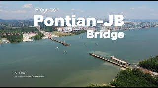 Progress Of Pontian To Johor Bahru Bridge  4k    15 Oct 2018