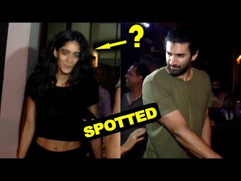 Aditya Roy Kapur And Mystery Girl Spotted At Bandra
