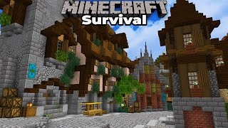 Minecraft 1.15 Survival : Building an Awesome Medieval City : Building the Main Street