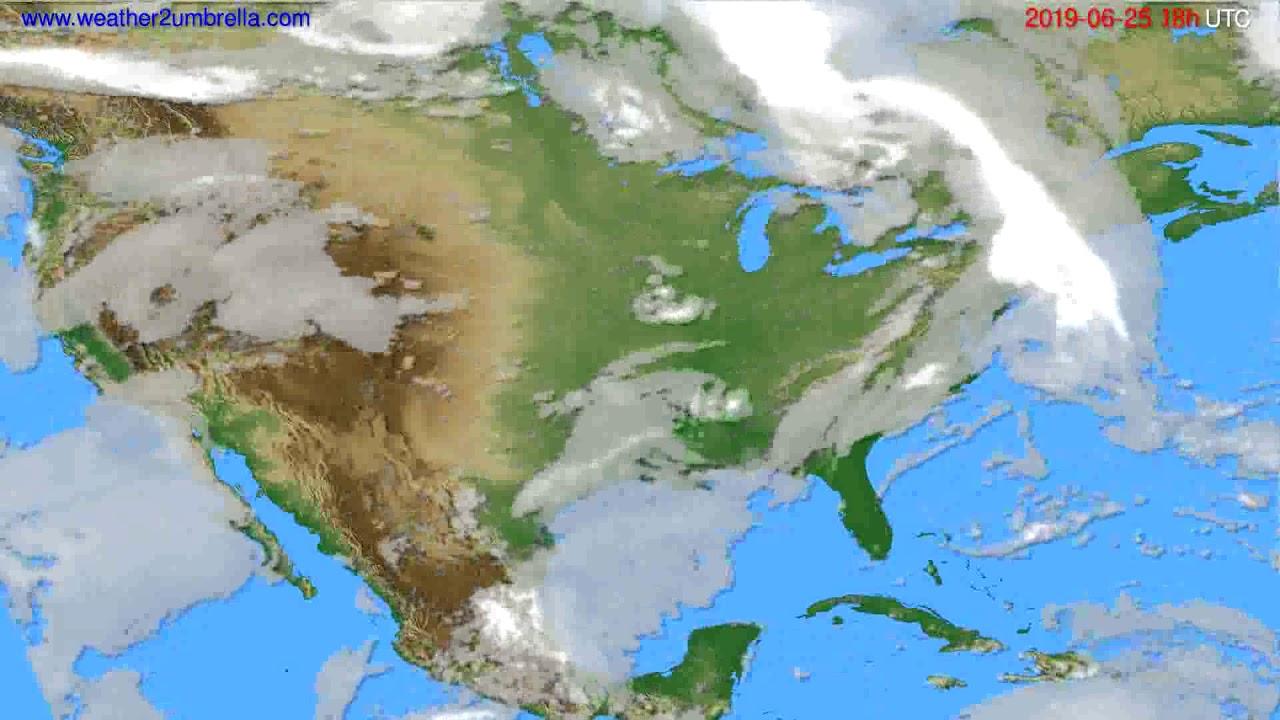 Cloud forecast USA & Canada // modelrun: 12h UTC 2019-06-23