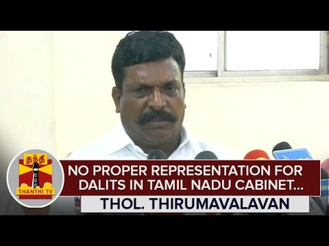 No-Proper-Representation-for-Dalits-in-Tamil-Nadu-Cabinet--Thol-Thirumavalavan-Thanthi-TV