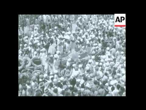Maharaja of Jaipur's Funeral