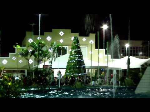 Decoraçao de natal na praça do Bom Jesus Anápolis goiás