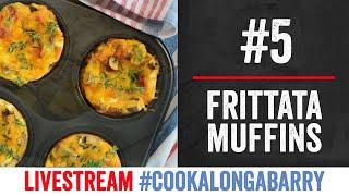 Frittata Muffins - Livestream 5 #cookalongabarry by  My Virgin Kitchen