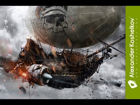 Watch: Awesome Wallpaper Of Airships Fighting, Crafted In 9 Minutes