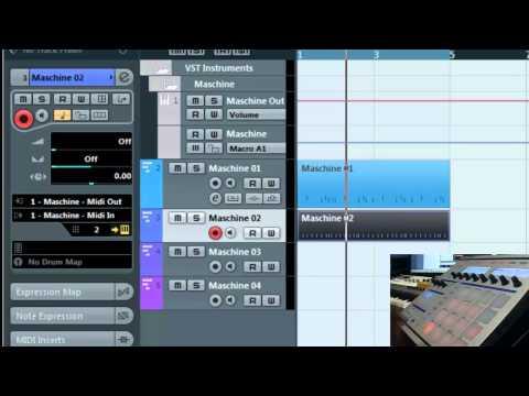 Maschine recording midi into Cubase 6 – Sequencing