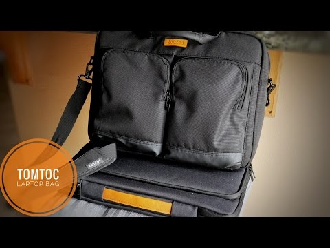 "Tomtoc 15.6"" Business Laptop Briefcase and Shoulder Bag Review"