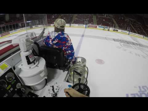 UMass Zamboni POV - 4k - 1st Intermission - 2/24/2017