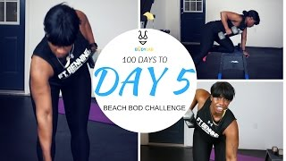 Day 5 of 100 Day to Beach Bod Challenge. You'll be working your back and bis with this 30 minute Back and biceps workout routine. The back and bicep workout ...