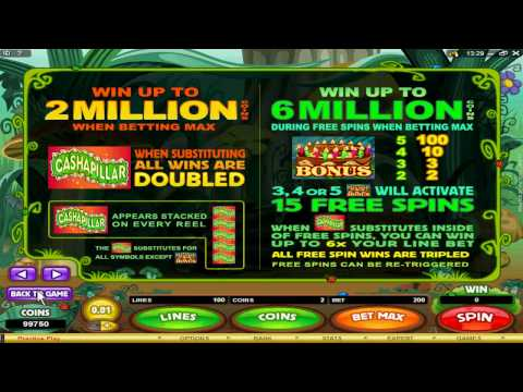 You can play the Cashapillar slot machine game at 7 Sultans Online Casino