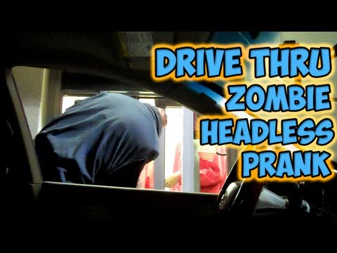 Drive Thru Zombie Headless Prank_Legjobb videk: Vicces