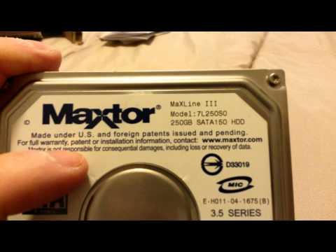 Unboxing Desktop Maxtor 7L250SO Hard Drive