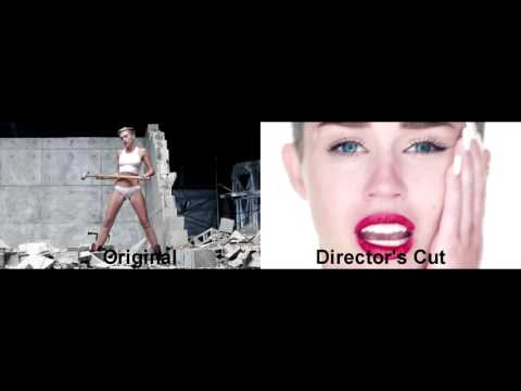 "Miley Cyrus - ""Wrecking Ball"" Video Comparison (Original & Director's Cut)"
