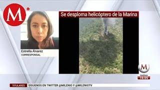 Cae helicóptero de la Marina en Querétaro