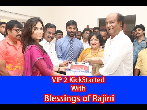 Rajinikanth Clap to Start Dhanush's VIP 2