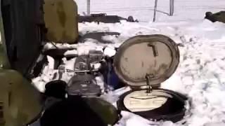 Wyjazd wozem bojowym BMP, który został przysypany śniegiem!