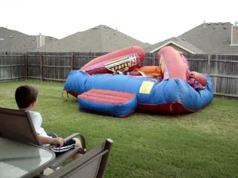 Bounce house rental with spiderman!