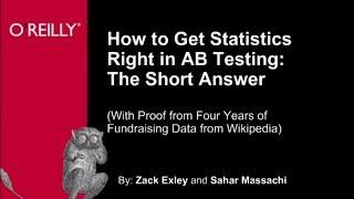 Using Statistics to Predict AB Testing - O'Reilly Webcast