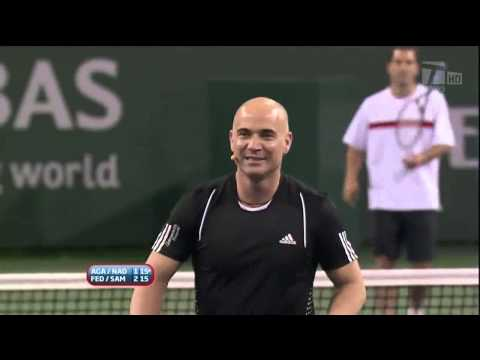 2010 hit for haiti indian wells: sampras/federer vs. agassi/nadal
