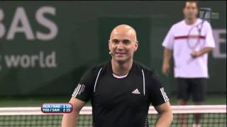 Download Video 2010 Hit for Haiti Indian Wells: Sampras/Federer vs. Agassi/Nadal (HD) MP3 3GP MP4