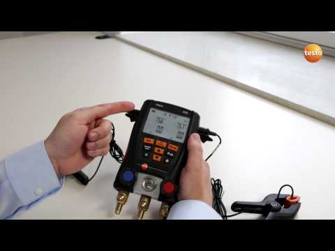 testo 550 Refrigeration Manifold - Step 3 - How To Change Th
