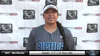 2021 Mia Montes First Base and Outfield Softball Skills Video - Ca Riptide