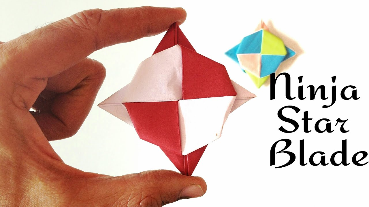 Modular Action Origami Paper Super Spinning Ninja Star Blade Shuriken Spin It 3 Ways