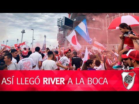 Desde el micro: el banderazo y la llegada a La Boca