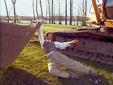 This guy dancing his heart out with an excavator might be the best thing I've ever seen.