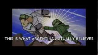 Actual cartoon shown on public television in Argentina, which I have subtitled for the purpose of educating gringos on the justice...