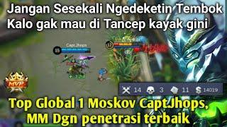 Video Top Global 1 Moskov Capt.Jhops, MM Dgn Damage Penetrasi Penembus Armor Terbaik [Mobile Legend] MP3, 3GP, MP4, WEBM, AVI, FLV September 2018