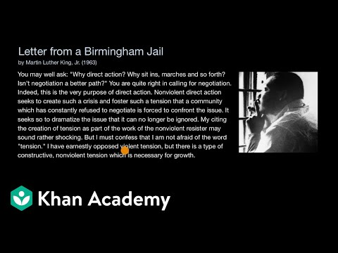 letter from birmingham city jail summary