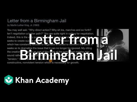 Letter from a Birmingham Jail (video) | Khan Academy