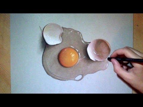 How I draw a crazy realistic egg