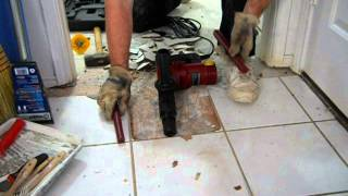Harbor Freight 10 Amp Demolition Hammer vs. Ceramic Floor Tile