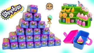 Shopkins Lunch Box Food Fair 2 Surprise Blind Bags Toys Haul - Cookie Swirl C Video