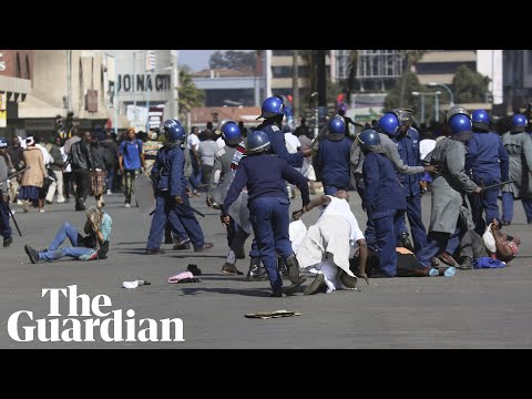 Zimbabwe riot police use teargas and batons to clear protesters