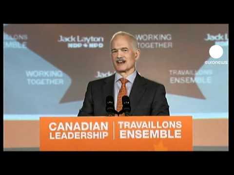 Canadian PM Harper celebrates election win