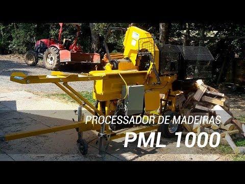 Processador de toras para produção massiva de lenha - Lippel PML 1000