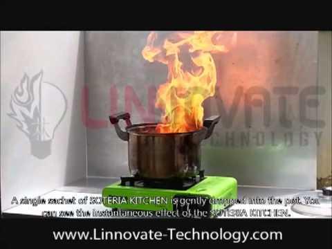 Soteria ile Mutfak'ta Yemek Yağı Yangını Söndürülmesi