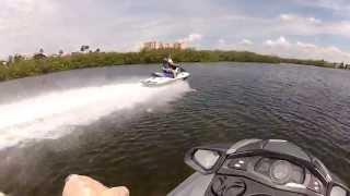 6. Yamaha FX SHO Cruiser versus Kawasaki STX 15F jetski- top speed running