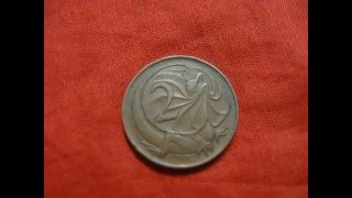 Holbrook Australia  city images : Australian two cent coin 1966 Queen Elizabeth II, Queen of Australia 0 02 AUD